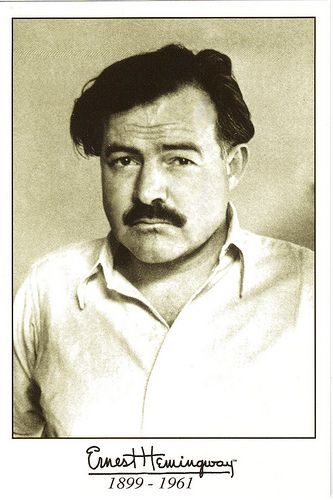 "Ernest Hemingway -""An intelligent man is sometimes forced to be drunk to spend time with his fools."""