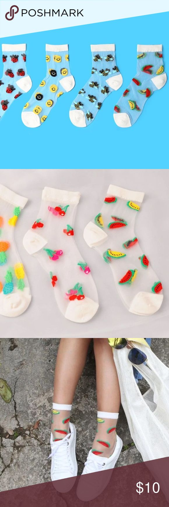 Transparent Watermelon Socks New ✖Fast shipping✖ Urban Outfitters Accessories Hosiery & Socks