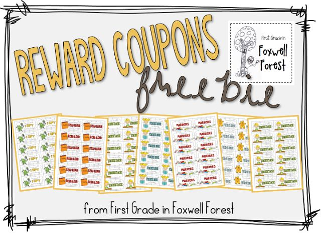 FREE Classroom Reward Coupons- Great ideas...sit at the teachers desk, write with markers for the day,bring in a book to read to the class!