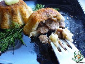 Кексы картофельные с грибами