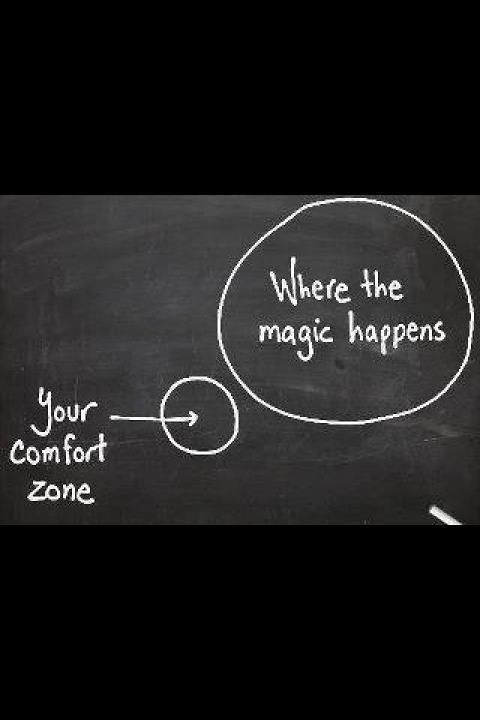 here is only a thin line between life and death - get out of your comfort zone and you'll experience a whole new world