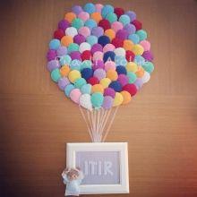 bebek kapı süsü,felt name banner,balon,keçe balon,balonlu kapı süsü,isme özel,hastane odası süsleme,doğum,birth,baby room,baby room decoration,bebek odası dekorasyonu