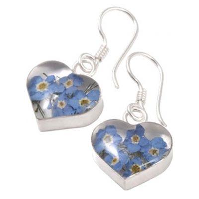 Jewellery :: .925 Silver :: Wildflower heart earrings - $36
