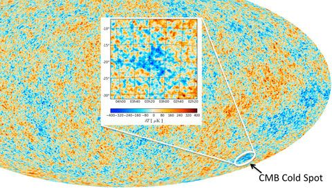 A new galaxy survey suggests that a supervoid isn't responsible for the Cold Spot seen in the cosmic microwave background — the oddity may have a far more ancient origin. The post Debate on Universe's Cold Spot Heats Up appeared first on Sky & Telescope.