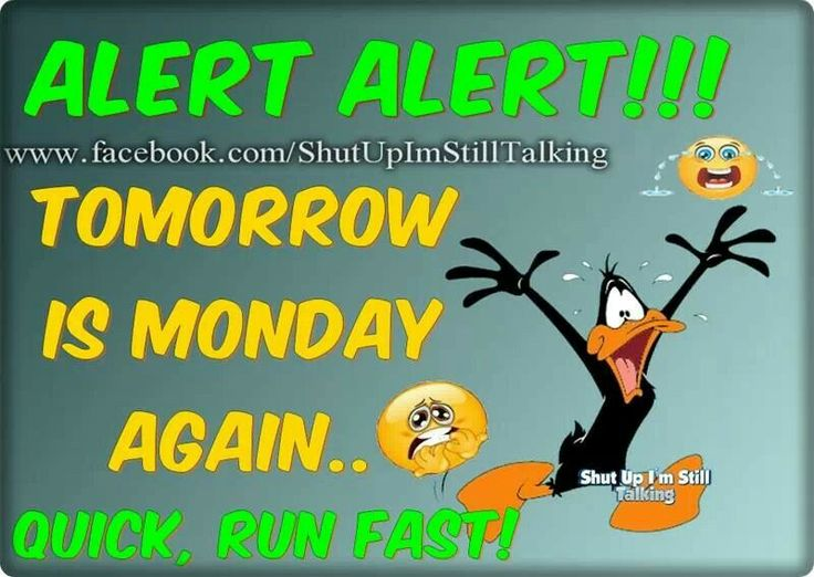 TOMORROW IS MONDAY AGAIN     Quick run fast   Weekday  Mondays Again    Tomorrow Is Monday Again Quotes