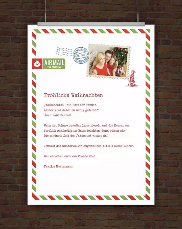 © Druckeselbst! Weihnachtsbrief mit eigenem Foto
