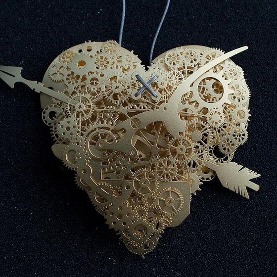 """Incredible Detailed Paper Heart Sculptures: The pieces are intended to represent various moods of the heart and link to themes such as """"fragility, passion, uncertainty, and desire."""""""