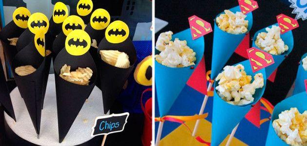 Ideas para presentar la comida y las chuches en una fiesta de superh roes fiestas de - Cumpleanos infantiles comida ...
