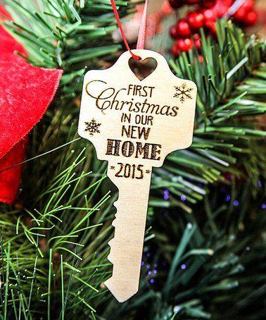 Look at this #zulilyfind! 'First Home' Key Ornament #zulilyfinds