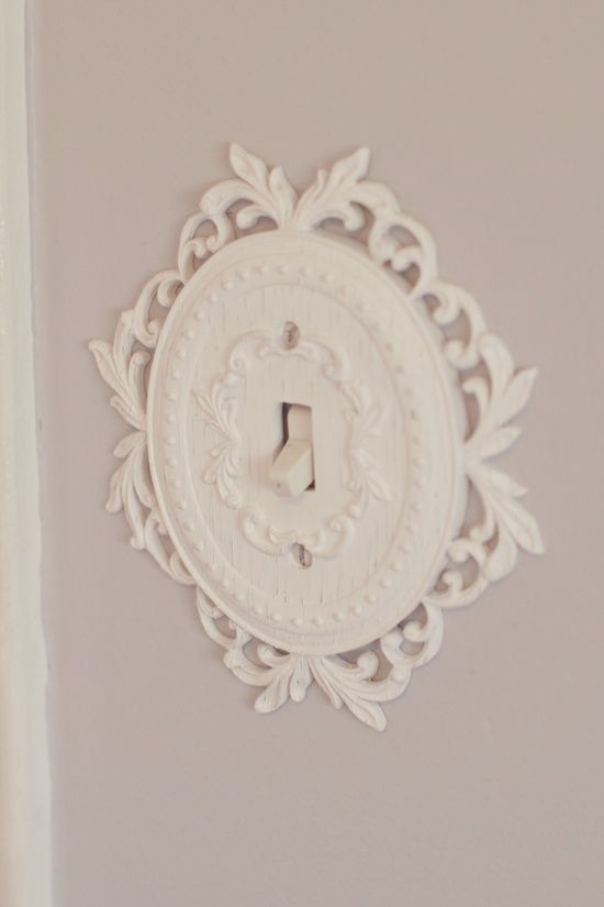 Light switch cover – would adorable in a little girl's room! @ Home DIY Remodeling