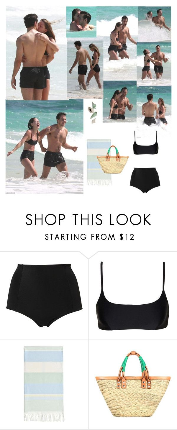 """Outfit #768 Melissa Benoist"" by nmr135 ❤ liked on Polyvore featuring Monki, Matteau, Linum Home Textiles, Balenciaga, bikini, mexico, MelissaBenoist, chriswood and nmr"