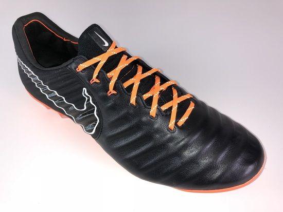 e93d64ee880 SR4U Reflective Bright Orange Soccer Laces on Nike Tiempo Legend 7 Elite  Fast AF Pack