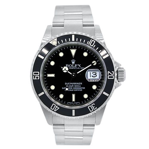 Rolex 16610 Submariner Black Dial Stainless Steel Watch