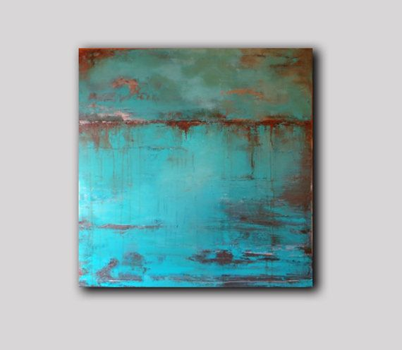 """32"""" x 32"""" ABSTRACT PAINTING,ORIGINAL, expressionist, Large painting, Acrylic on canvas, square painting Free Shipping"""