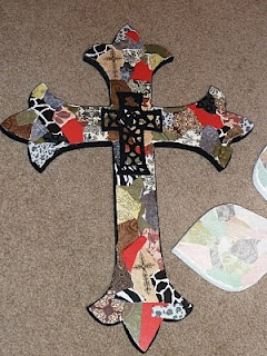 decoupaged wall cross