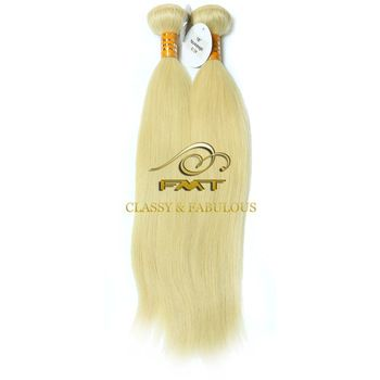 Completed Hair Cuticle No Shedding No Tangle Blonde Hair Extension 100% Human Curly Hair