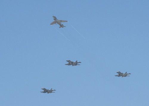 Last U.S. Navy EA-6B missing man formation