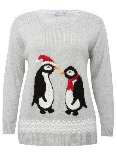 Penguin Christmas jumper xx