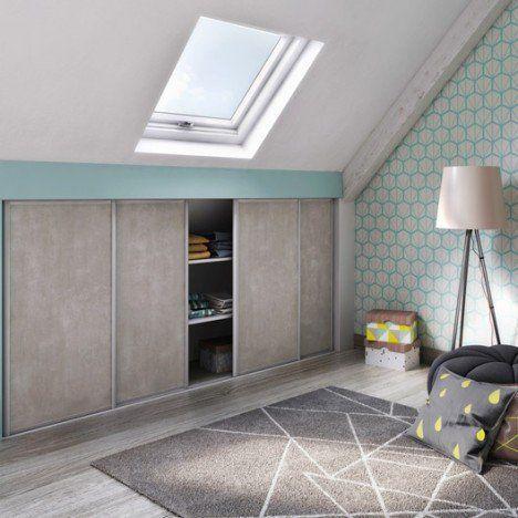 48 best Comble images on Pinterest Loft room, Slanted ceiling - fixation porte de placard