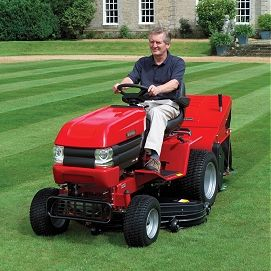 Parents and grandparents should avoid having children sit on ride-on lawn mowers. There are far too mcuh debris that is made airborne when the mower cuts the grass and those would irritate their delicate air passages. Some fuel operated machines will also release carbon monoxide as a result of combustion of the fuel, which is a toxic gas that can be dangerous if inhaled in high volumes.