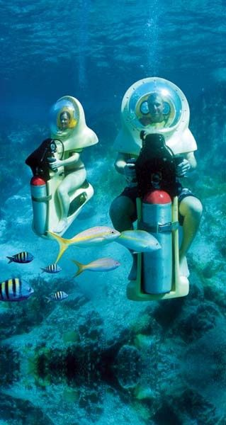 Underwater Scooters, St Thomas, US Virgin Islands.....it was very exciting