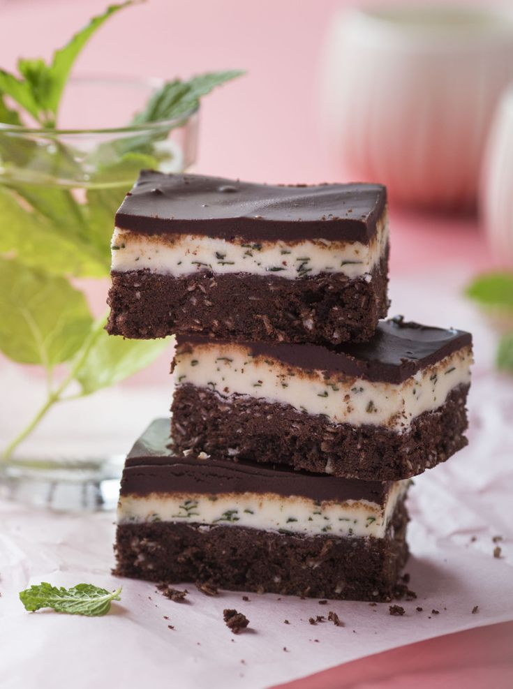 Peppermint slice with fresh mint - http://chelseawinter.co.nz/peppermint-slice/