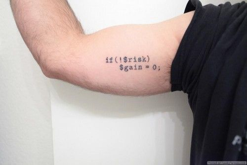 Epic PHP Tattoo: Nothing risked, nothing gained, nothing lost, nothing learned [Pic]