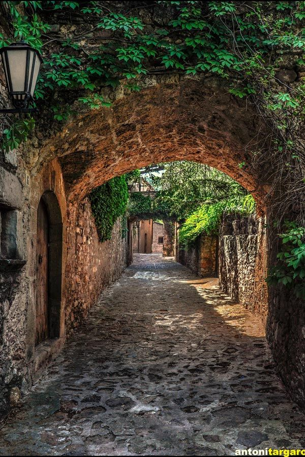 Street of Mura Barcelona ~Barcelona is an extremely interesting city in Spain with many contrasts - old and new and a heaven for artists.
