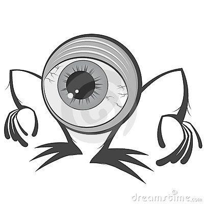 Monstro do globo ocular dos desenhos animados
