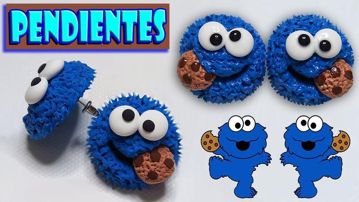 Tutorial: Pendientes/Aretes del Monstruo Come Galletas  - YouTube