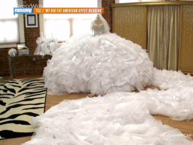 My big fat american gypsy wedding dress costs