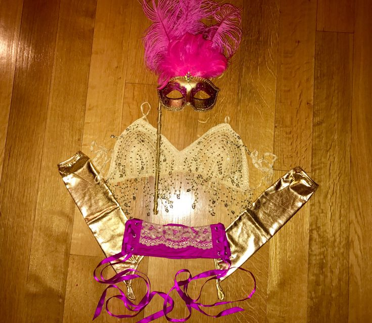 SHOWSTOPPER - halloween costume dancewear gogo stage performer showgirl feather mask gold sequin bra pink lace waistbelt metallic gloves by GlitteratiBody on Etsy https://www.etsy.com/listing/470054776/showstopper-halloween-costume-dancewear