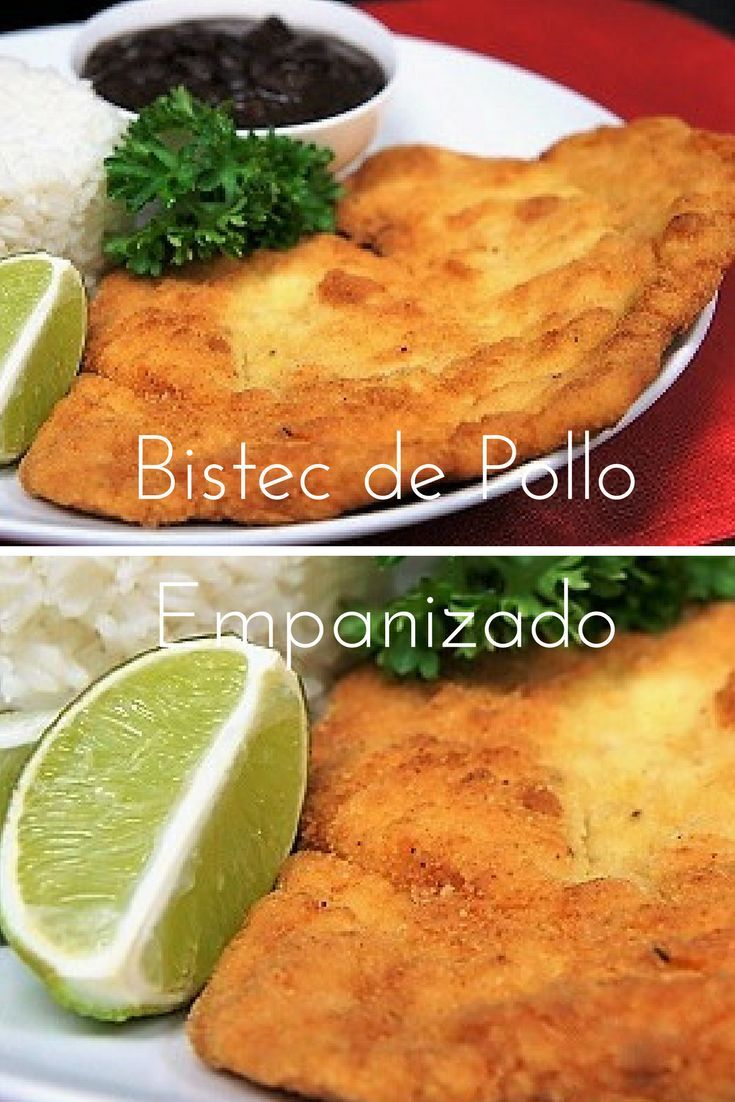 This is a Cuban dish is called Bistec de Pollo Empanizado, translation: Breaded Chicken Steak. This is a great and different way to serve chicken. Serve the bistec de pollo empanizado with rice and beans for a taste of the Caribbean in your own home.
