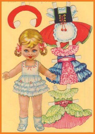Ingrid Molzen. PDsamler. Online Interest Group on paper dolls. Gretchen from Austria. Series of 8 different countries