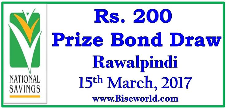 #Prize Bond #List 200 Rs Draw #69 Results 15 March 2017 at #Rawalpindi         http://www.biseworld.com/prize-bond-list-200-draw-15-march-2017/