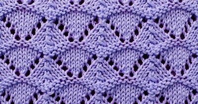 Lace knitting stitch of the Month - July 2016. The Shell sitch is worked over a multiple of 10 stitches plus 2.