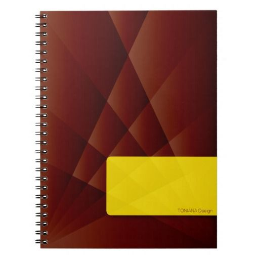 Chocolate brown notebook