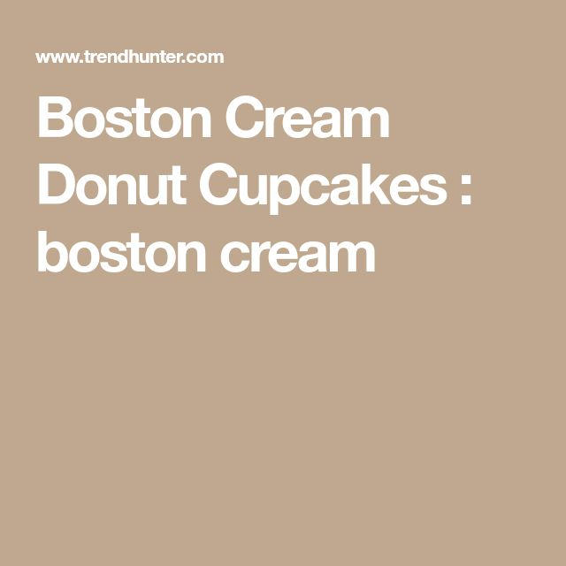 Boston Cream Donut Cupcakes : boston cream