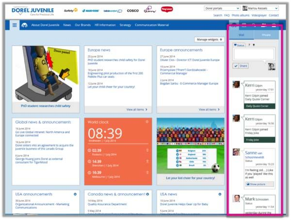 10 Examples Of Bringing Social Onto The Intranet Homepage   Digital  Workplace Group