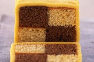 Chocolate orange battenburg cake
