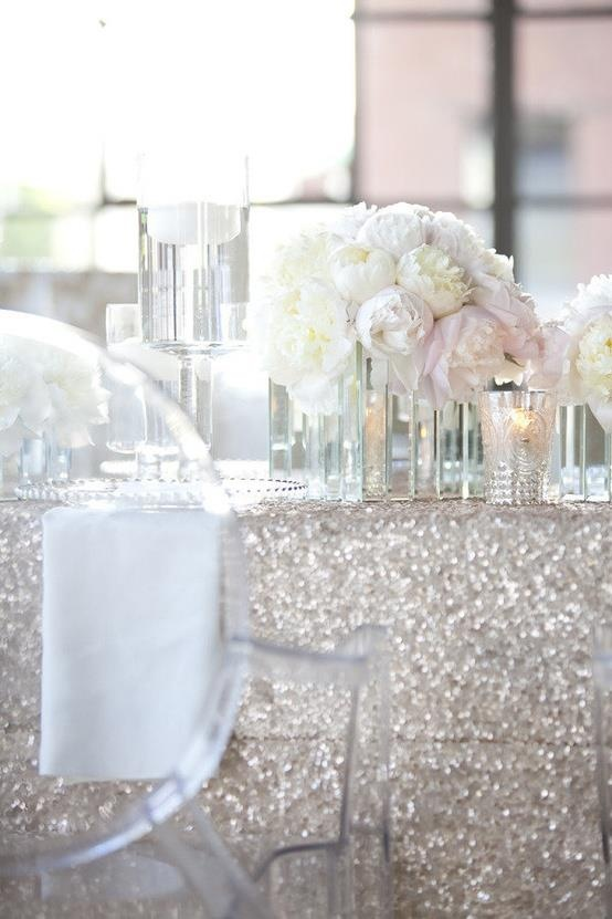 All white and sparkles | Estate Weddings and Events