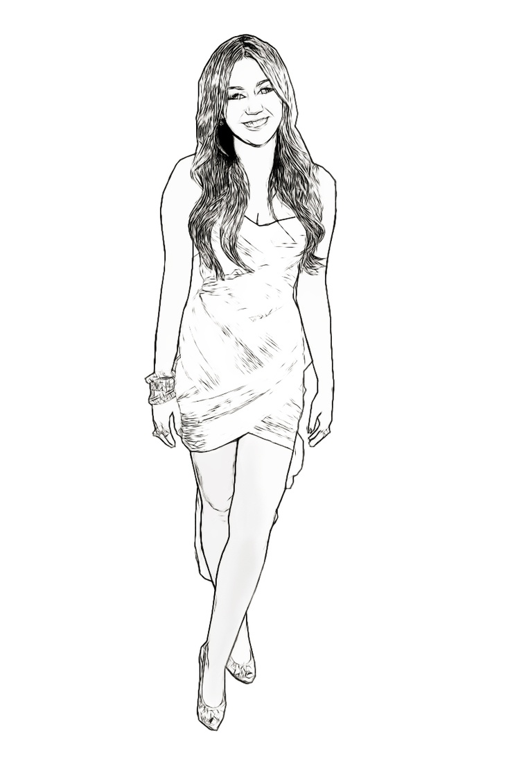 miley cyrus celebrity coloring page created by dan newburn art pinterest coloring created by and celebrity