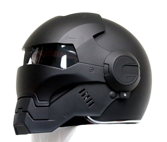 Masei Matt Black Atomic-Man 610 Open Face Motorbike Helmet Free Transport for Ha…