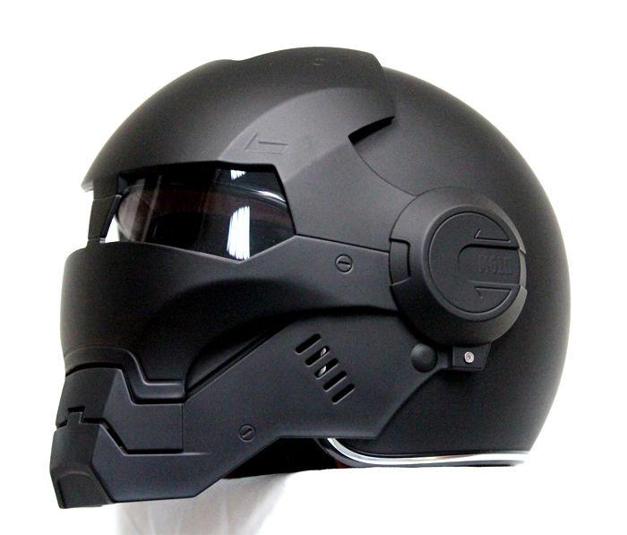 Masei Matt Black Atomic-Man 610 Open Face Motorcycle Helmet Free Shipping for Harley Davidson