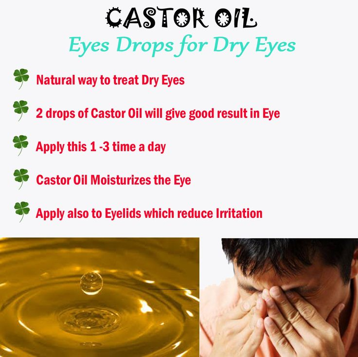 Castor Oil Eye Drops for Dry Eyes