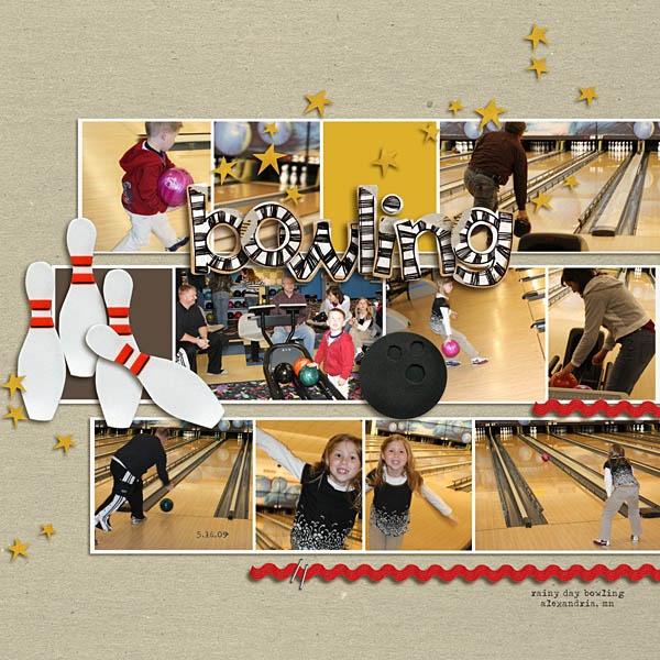 Bowling scrapbook idea
