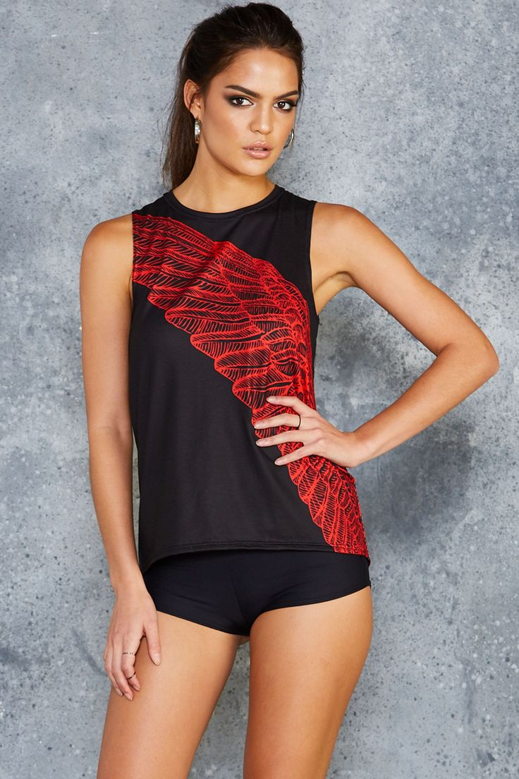 Blood Wing High-Low Tank – PRESALE ($69AUD) by BlackMilk Clothing