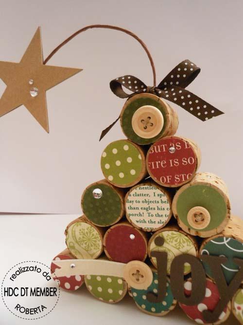 Hobby di Carta - Il blog: Christmas time! Albero con tappi di sughero