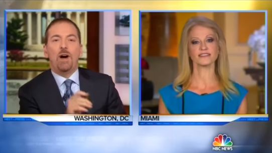Watch Chuck Todd hammer Kellyanne Conway for daring to criticize the media