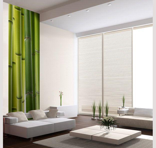 Lé papier peint bambou vert #decovert #bambou #decozen #decomood